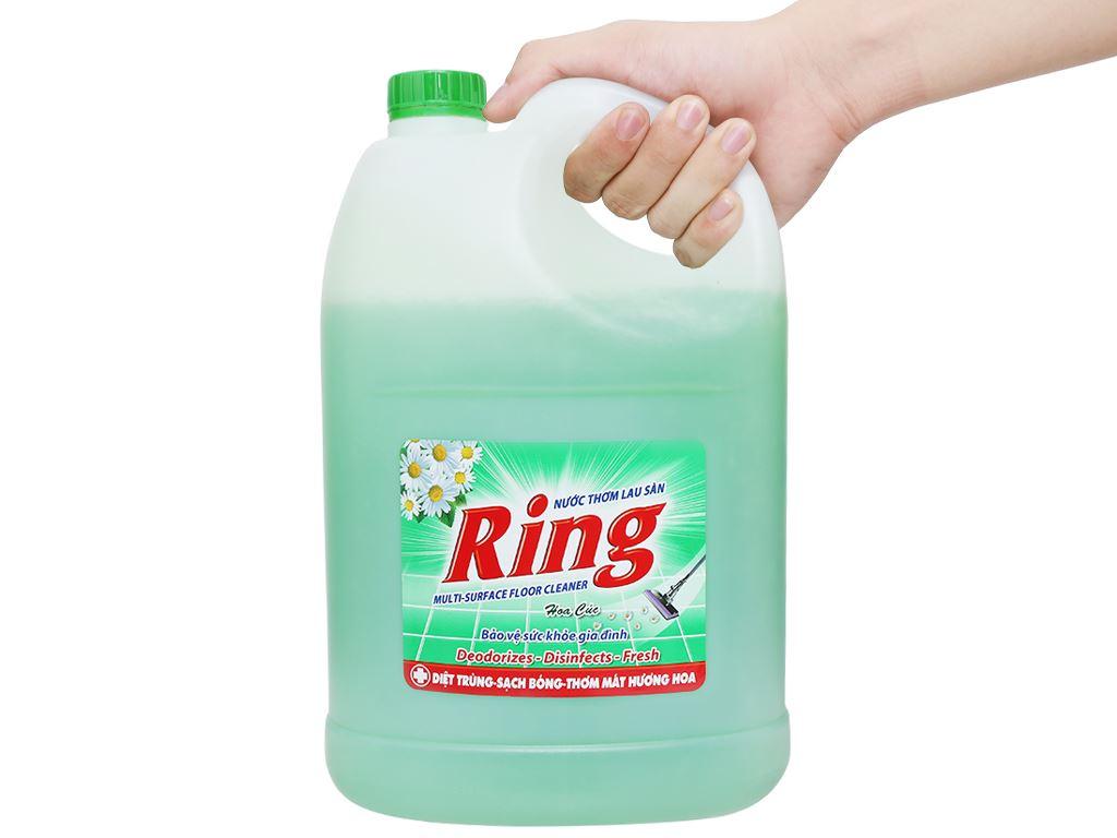 Nước lau sàn Ring hương hoa cúc can 3.8kg 5