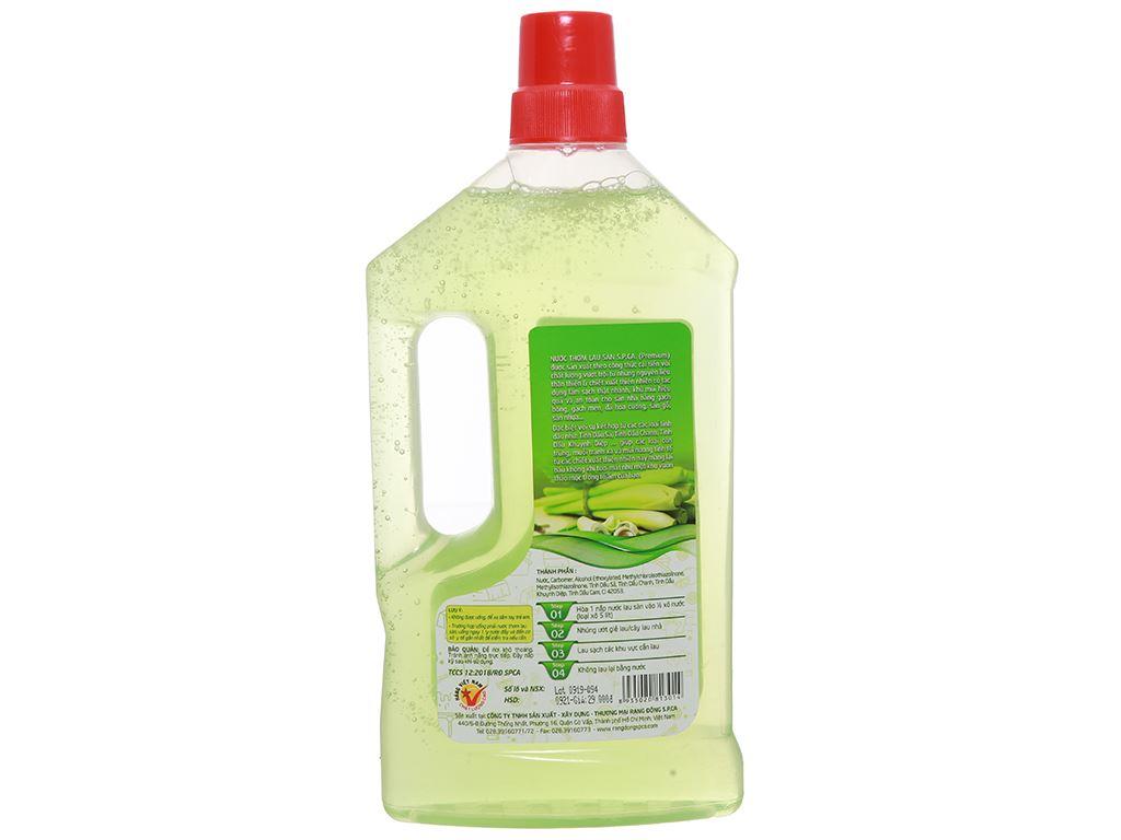 Nước lau sàn S.P.Ca. hương sả và chanh 1 lít 2