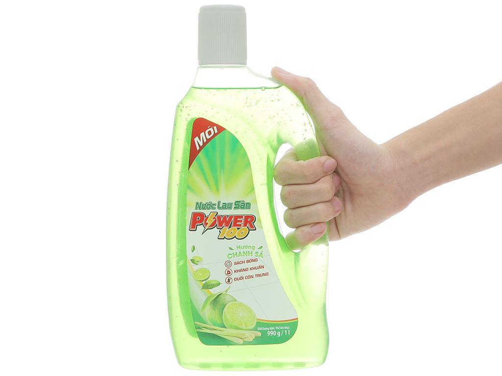 Nước lau sàn POWER100 hương chanh sả chai 990g 5