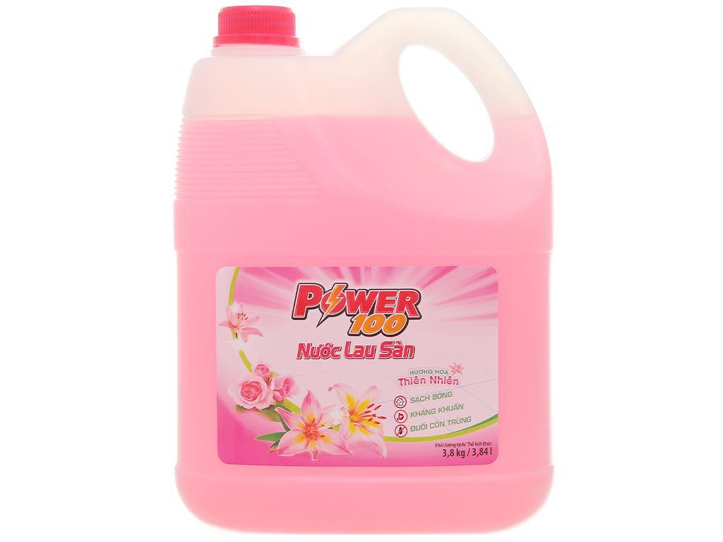 Nước lau sàn POWER100 hương hoa thiên nhiên can 3.8kg 1