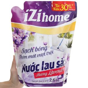 Nước lau sàn IZI HOME hương lavender túi 2.6 lít