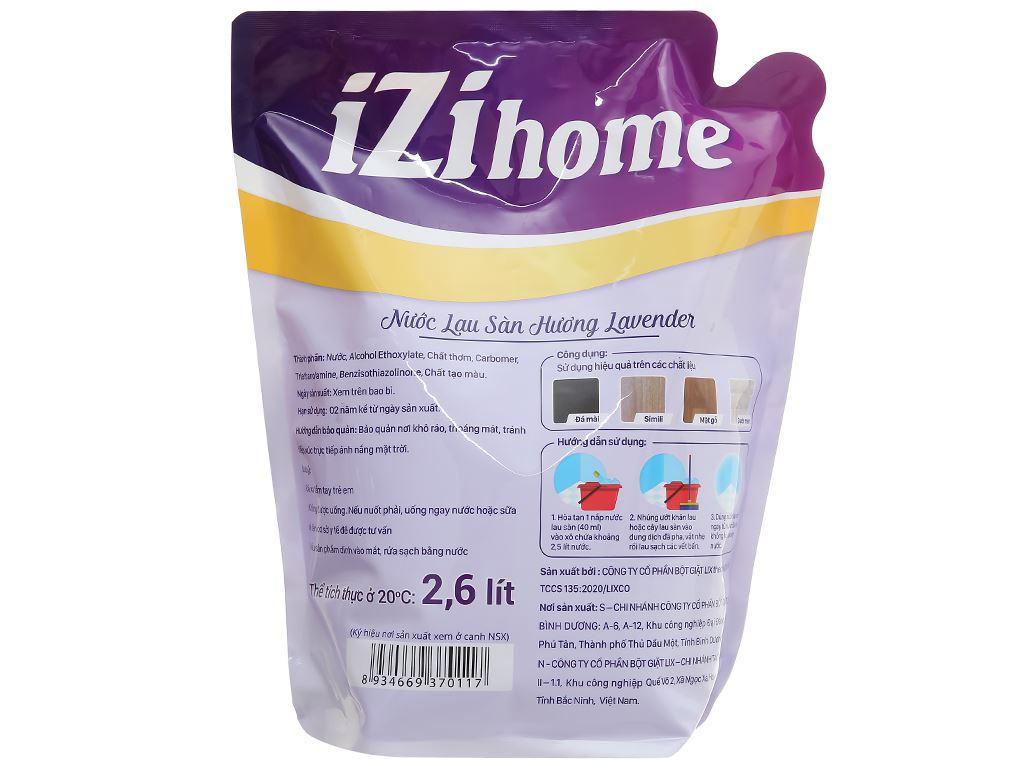 Nước lau sàn IZI HOME hương lavender túi 2.6 lít 2