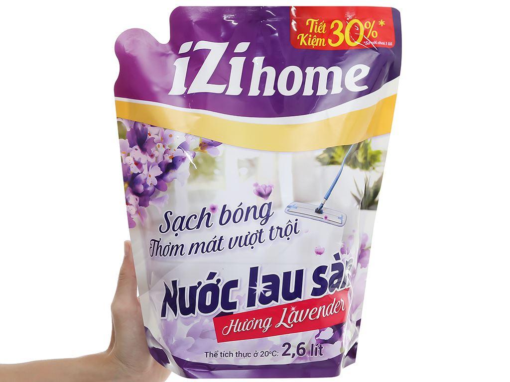 Nước lau sàn IZI HOME hương lavender túi 2.6 lít 5