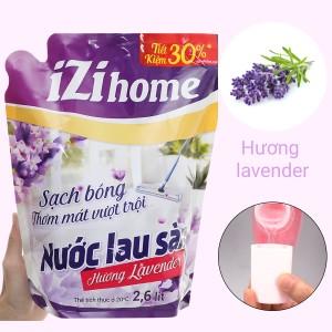 Nước lau sàn nhà IZI HOME hương lavender túi 2.6 lít