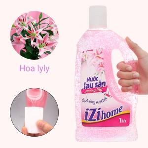 Nước lau sàn nhà IZI HOME hương hoa lily chai 1 lít