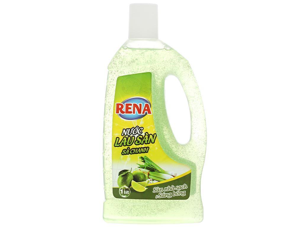 Nước lau sàn nhà Rena hương sả và chanh chai 1 lít 1