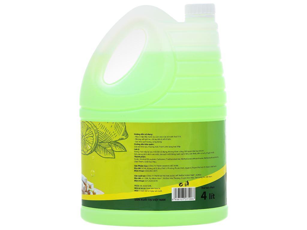 Nước lau sàn nhà Rena hương sả và chanh can 4 lít 2