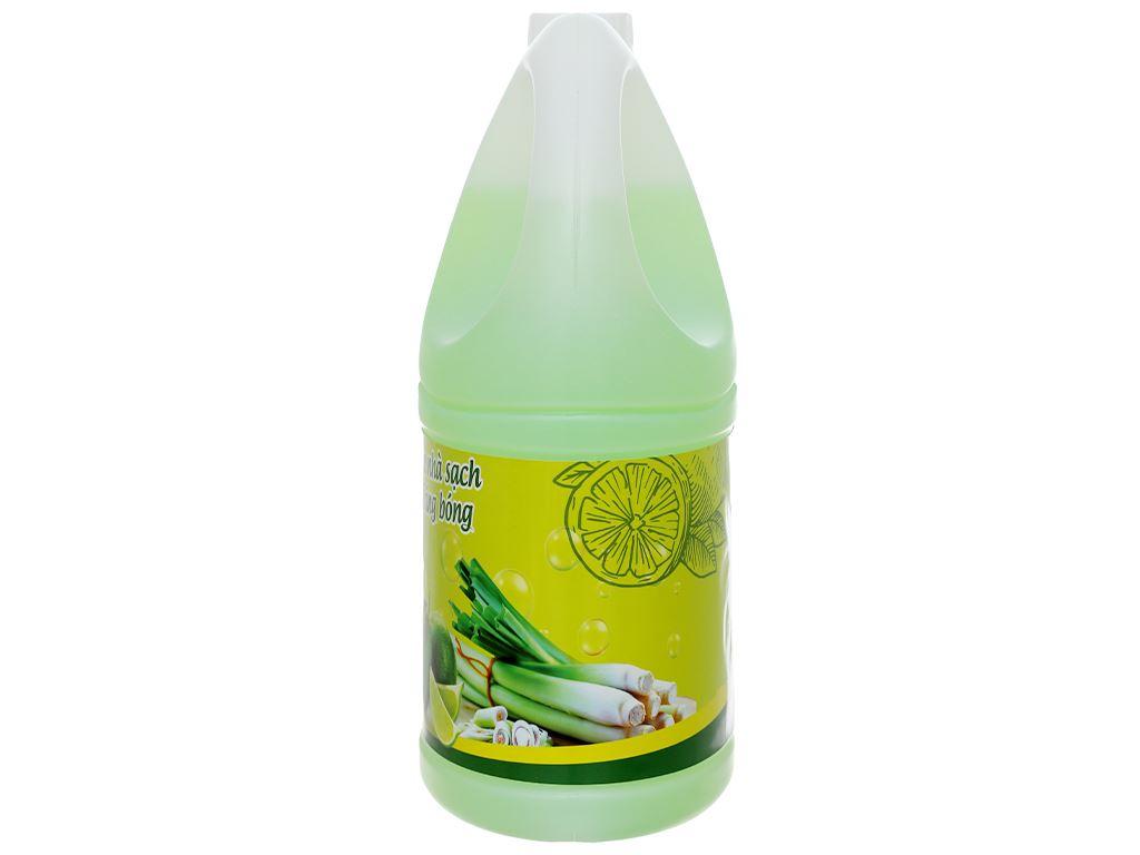 Nước lau sàn nhà Rena hương sả và chanh can 4 lít 4