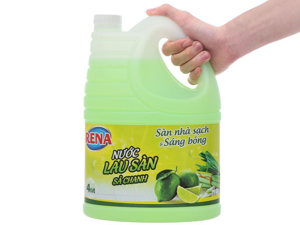 Nước lau sàn nhà Rena hương sả và chanh can 4 lít 6