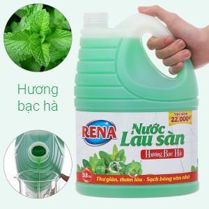 Nước lau sàn nhà Rena hương bạc hà can 3.8 lít