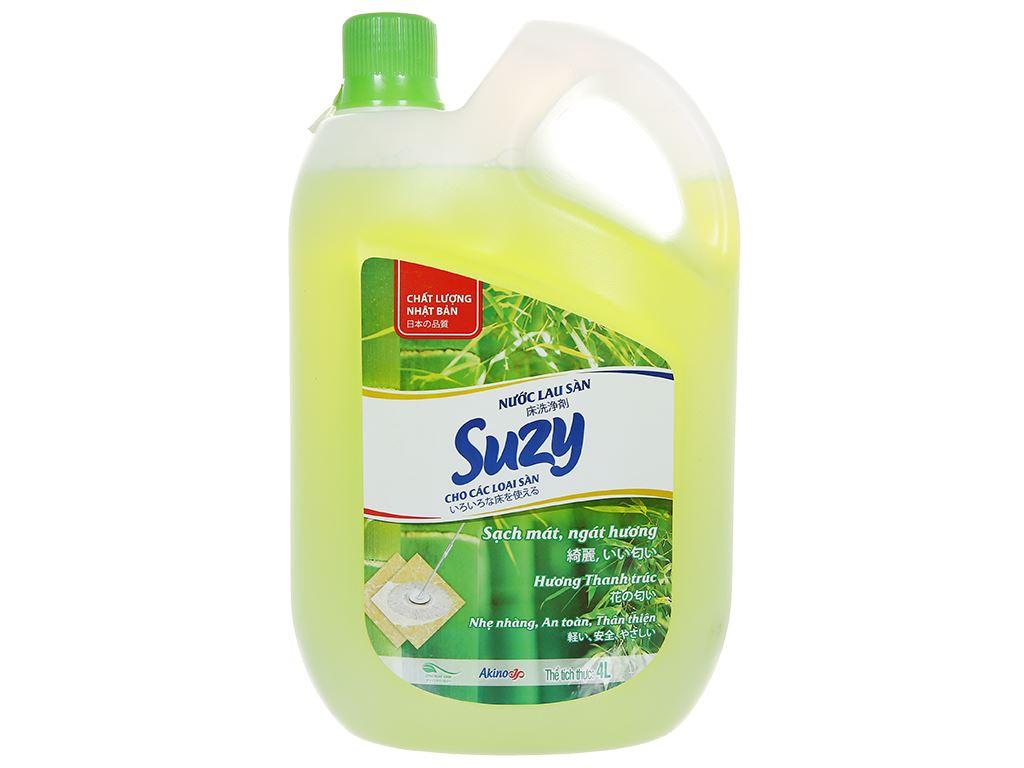 Nước lau sàn nhà Suzy hương thanh trúc can 4 lít 1