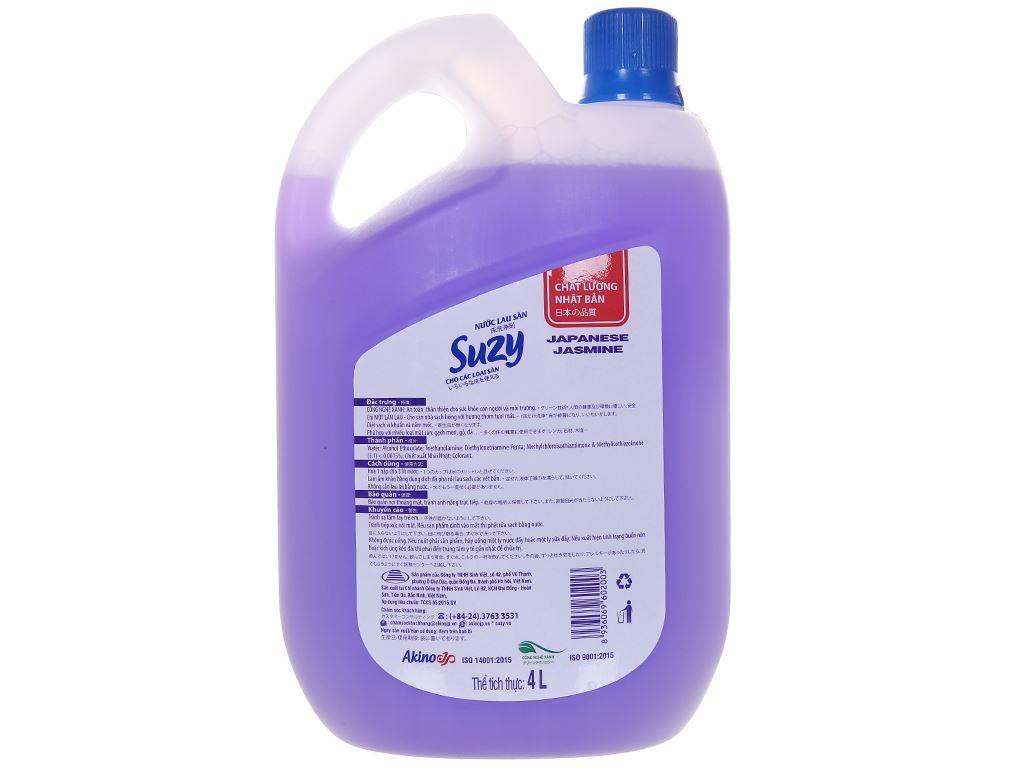 Nước lau sàn nhà Suzy hương nhài nhật can 4 lít 2