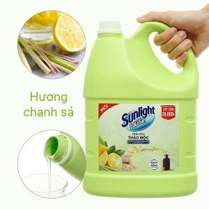 Nước lau sàn nhà Sunlight hương chanh yuzu và tinh dầu sả can 3.6kg