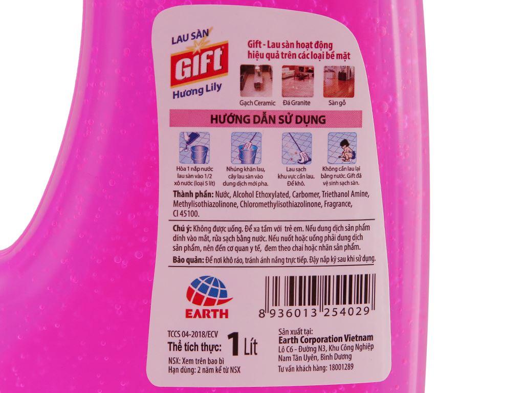 Nước lau sàn Gift hương hoa lily chai 1 lít 4