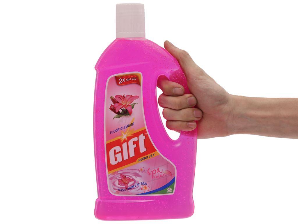 Nước lau sàn Gift hương hoa lily chai 1 lít 5