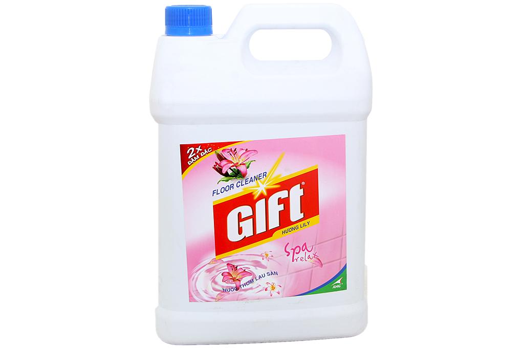 Nước lau sàn Gift hương Lily can 4kg