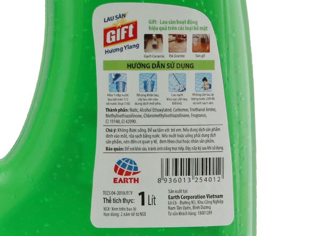 Nước lau sàn Gift 2X đậm đặc hương Ylang 1L 4