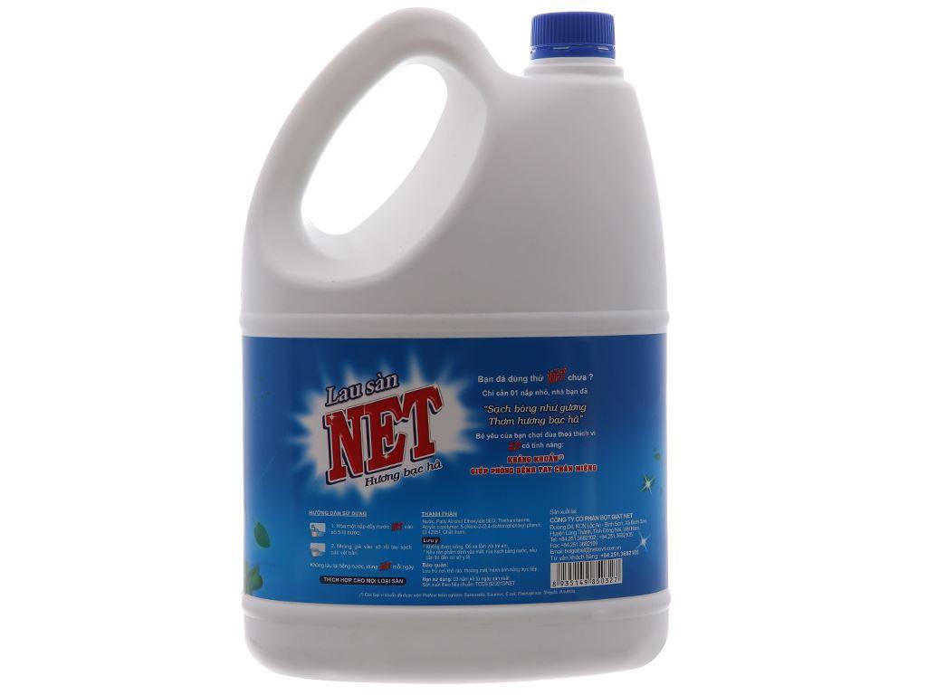Nước lau sàn NET Kháng khuẩn hương Bạc Hà 4kg 3