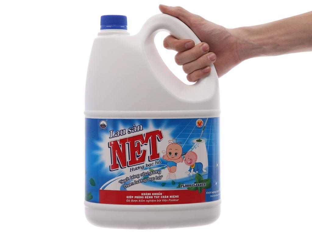 Nước lau sàn NET Kháng khuẩn hương Bạc Hà 4kg 5