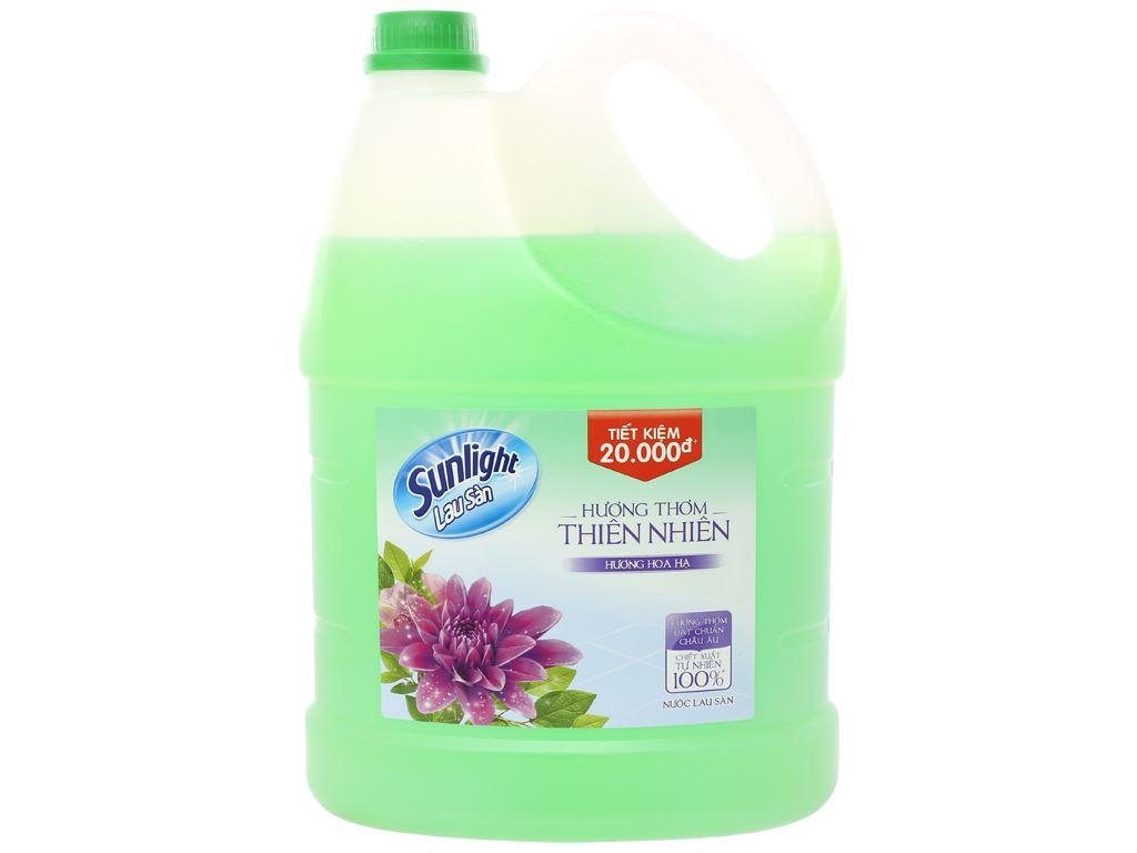 Nước lau sàn Sunlight hương hoa hạ can 3.8kg 1