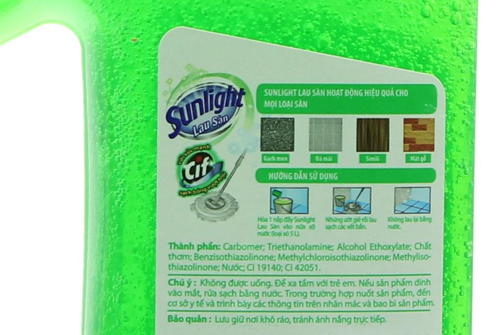 Nước lau sàn Sunlight hương Hoa Hạ chai 1kg