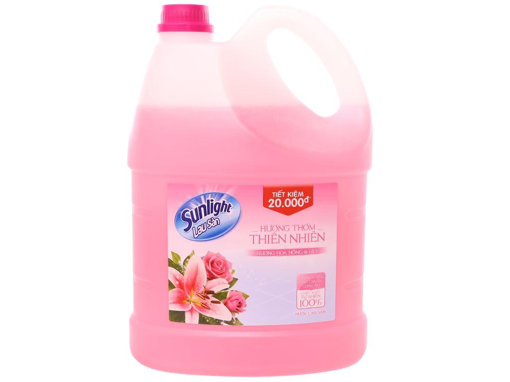 Nước lau sàn Sunlight Cif hoa lily & hoa hồng 3.8kg 2