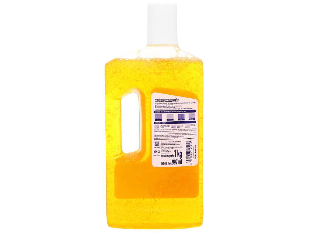 Nước lau sàn Sunlight hương thiên thảo chai 1kg 2