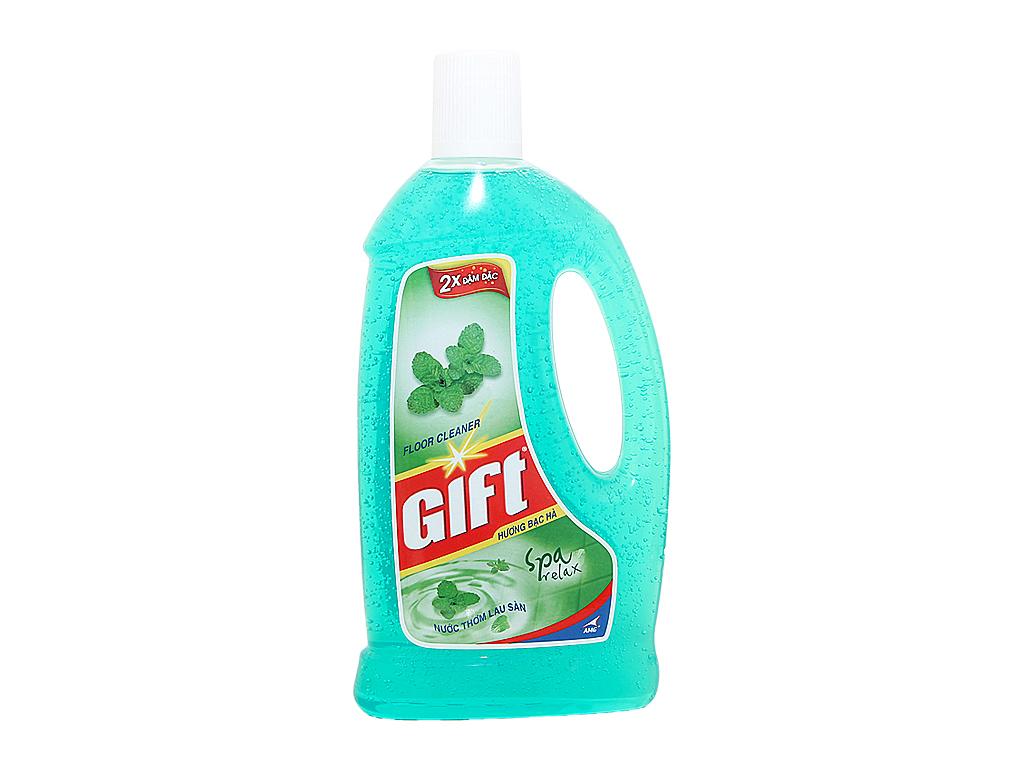 Nước lau sàn Gift 2X đậm đặc hương Bạc Hà 1L 2