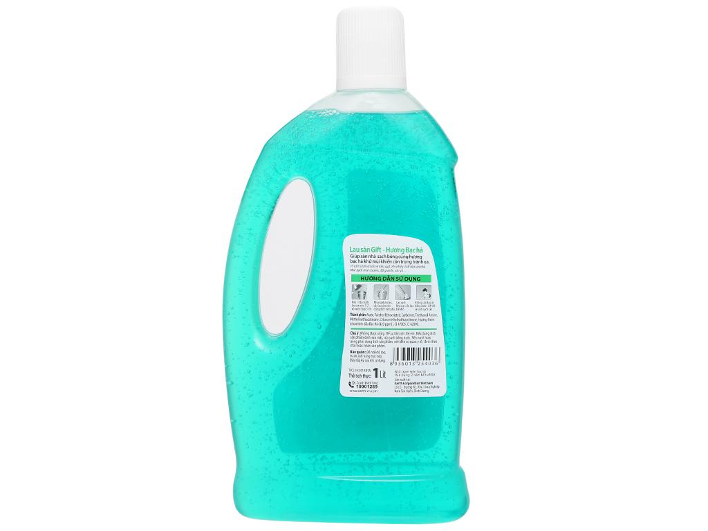 Nước lau sàn Gift hương bạc hà chai 1 lít 2
