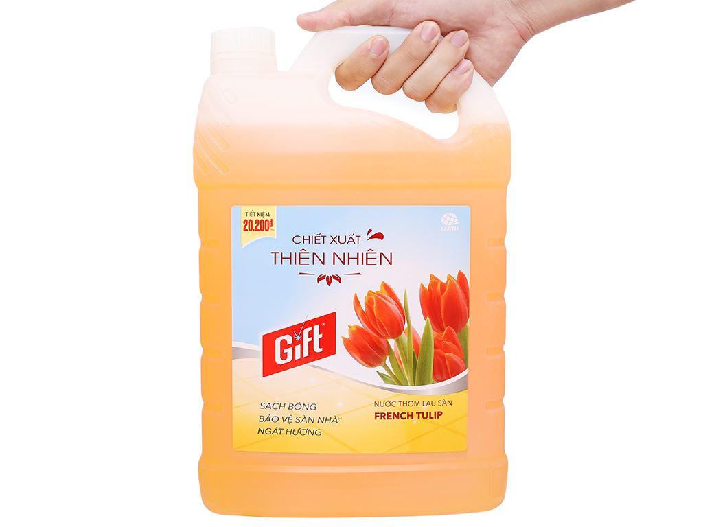 Nước lau sàn Gift hương tulip can 3.8kg 4