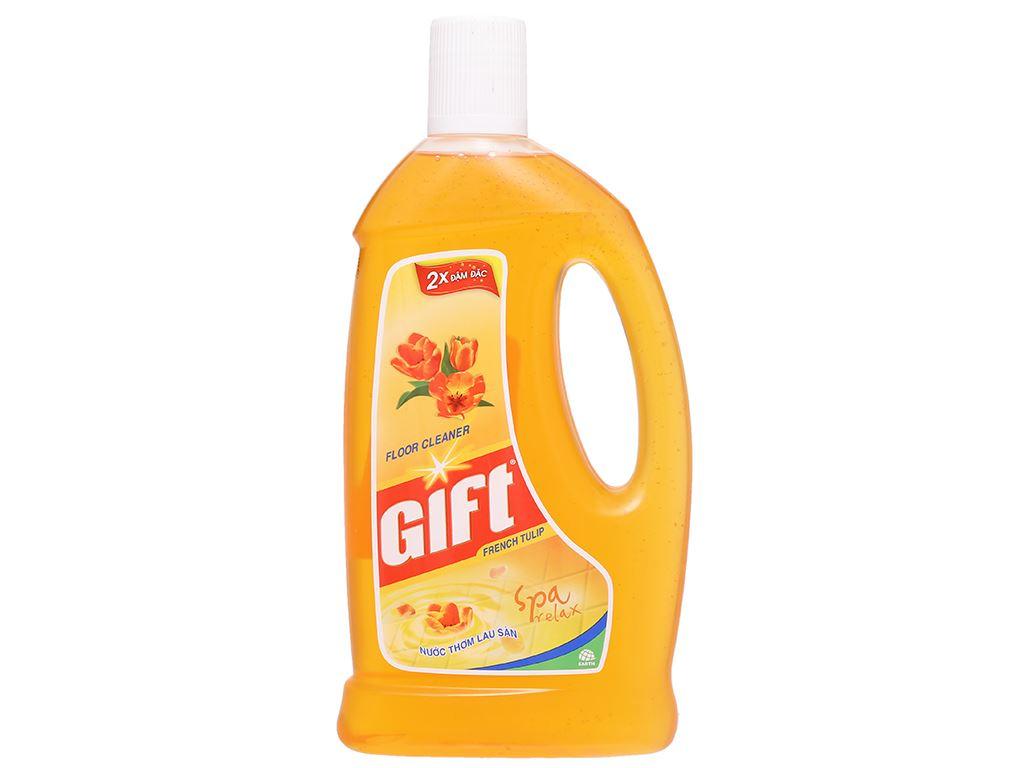 Nước lau sàn Gift hương tulip chai 1 lít 1