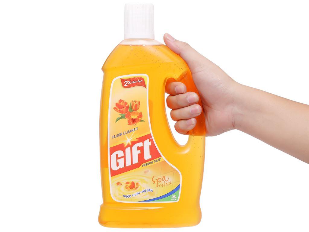 Nước lau sàn Gift hương tulip chai 1 lít 4