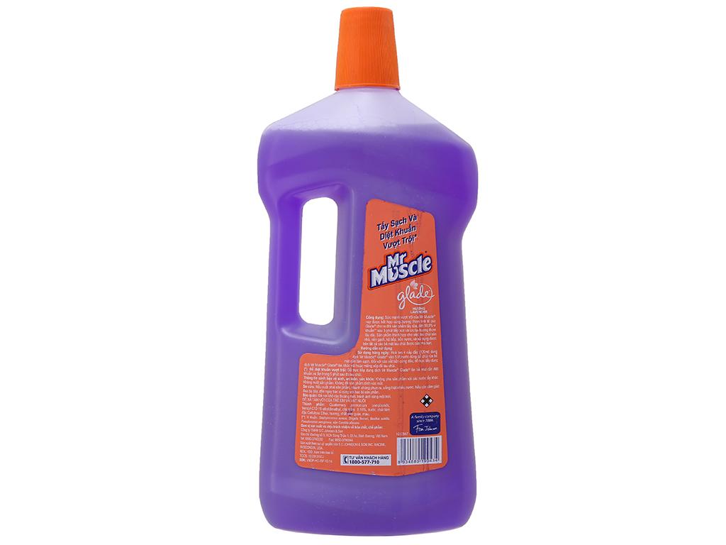 Nước lau sàn Mr Muscle Glade hương lavender chai 1 lít 3