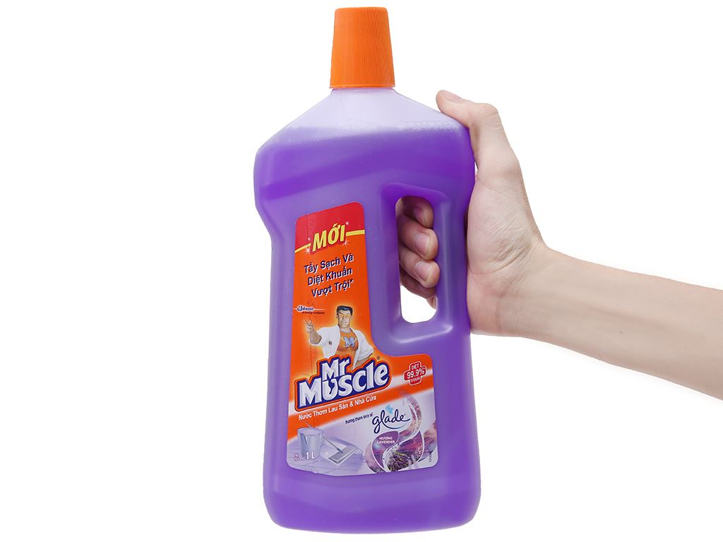 Nước lau sàn Mr Muscle Glade hương lavender chai 1 lít 5