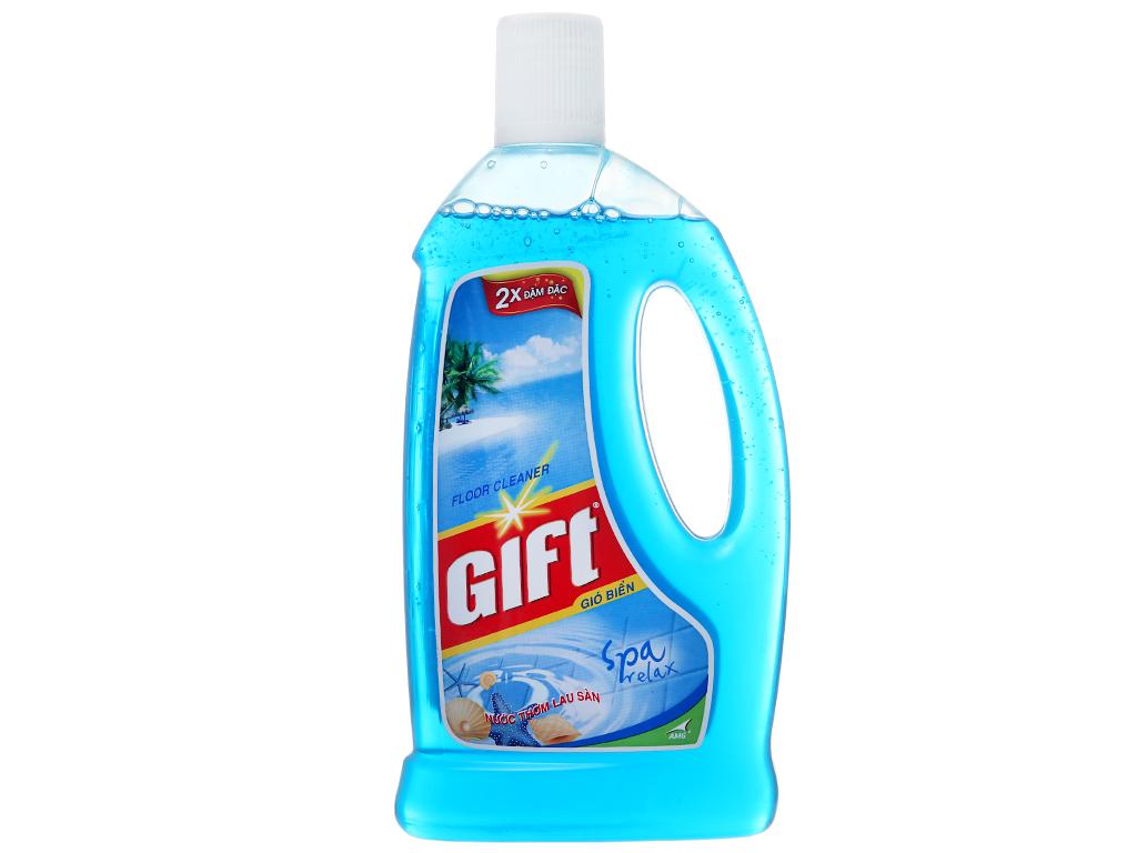 Nước lau sàn Gift hương gió biển chai 1 lít 2