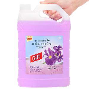 Nước lau sàn Gift hương hoa diên vỹ can 3.8kg