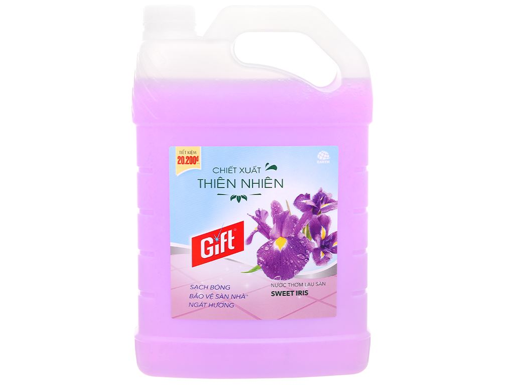 Nước lau sàn Gift hương hoa diên vỹ can 3.8kg 1