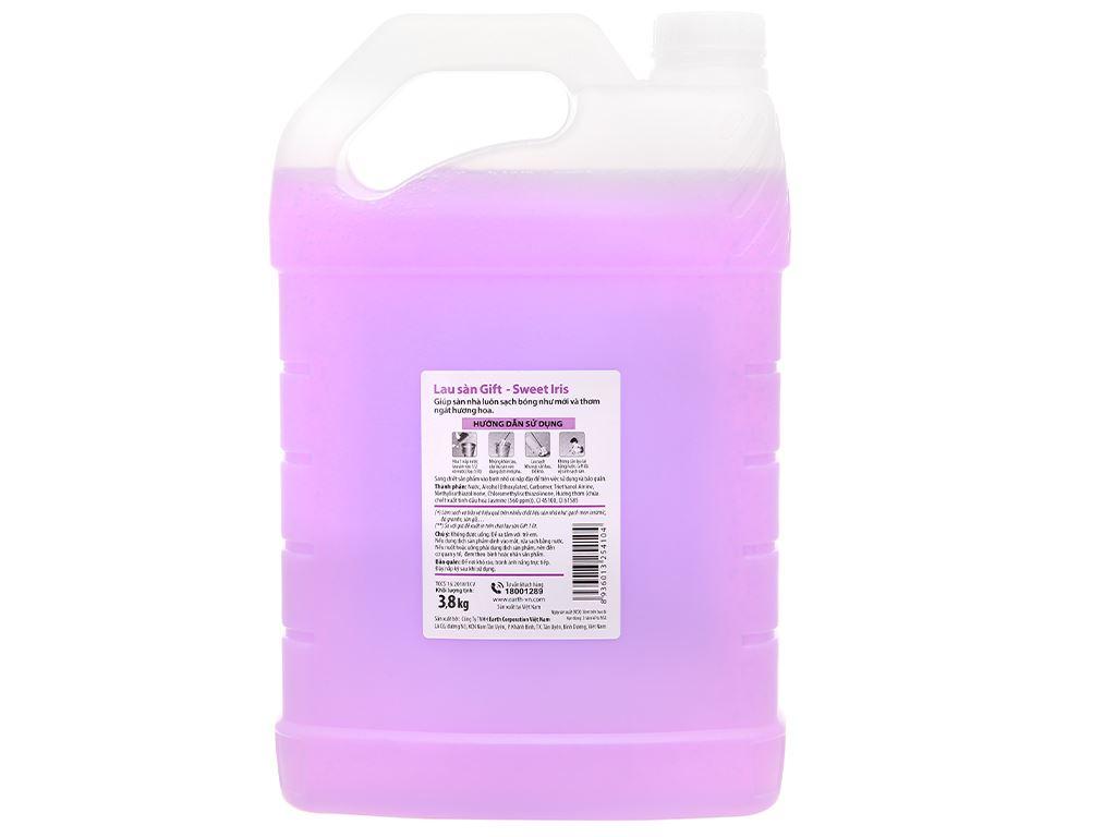 Nước lau sàn Gift hương hoa diên vỹ can 3.8kg 2
