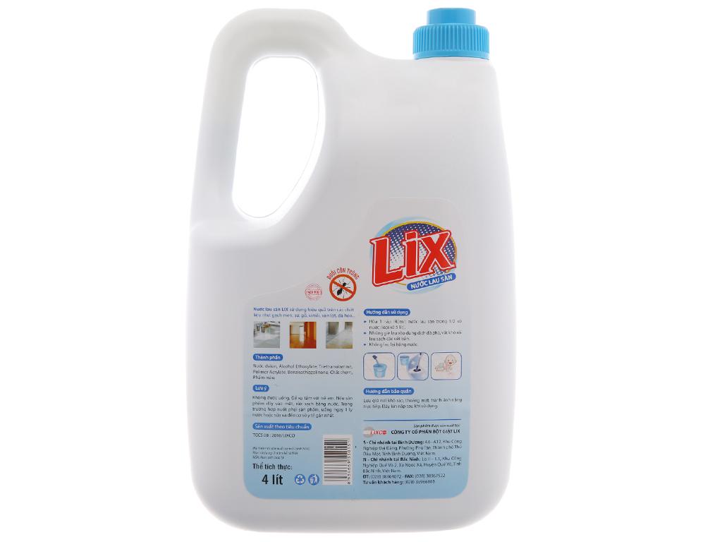 Nước lau sàn Lix 2x đậm đặc chai 4 lít 3