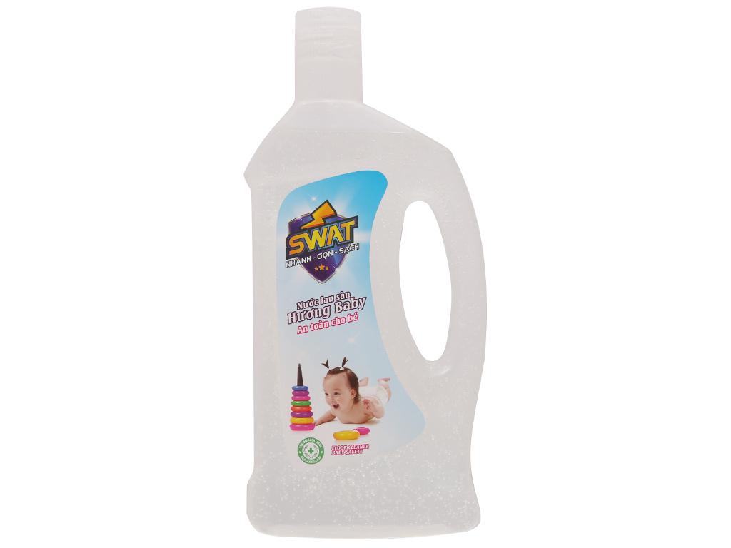 Nước lau sàn Swat hương baby chai 1 lít 1