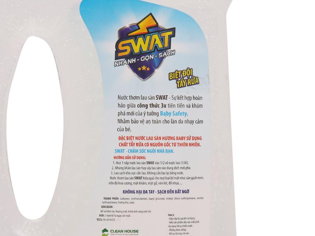 Nước lau sàn Swat hương baby chai 1 lít 3