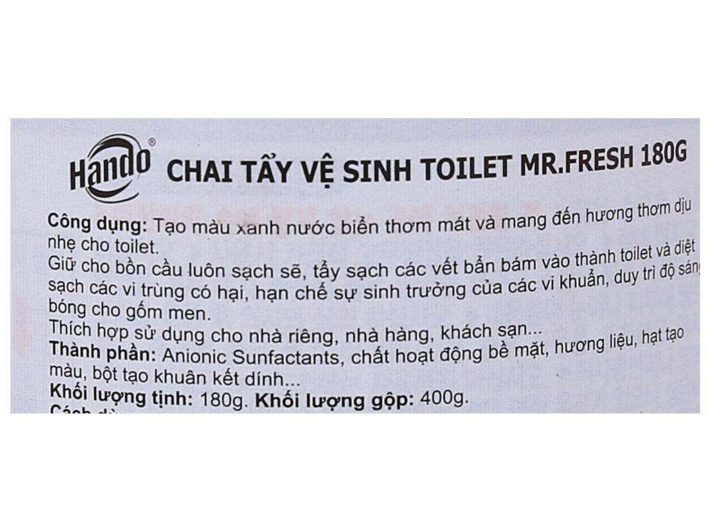 Chai tẩy vệ sinh toilet Mr.Fresh 400g 3