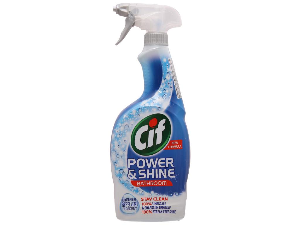 Nước tẩy nhà tắm Cif Power & Shine 700ml 2