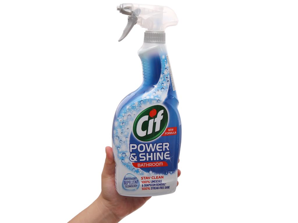 Nước tẩy nhà tắm Cif Power & Shine 700ml 5