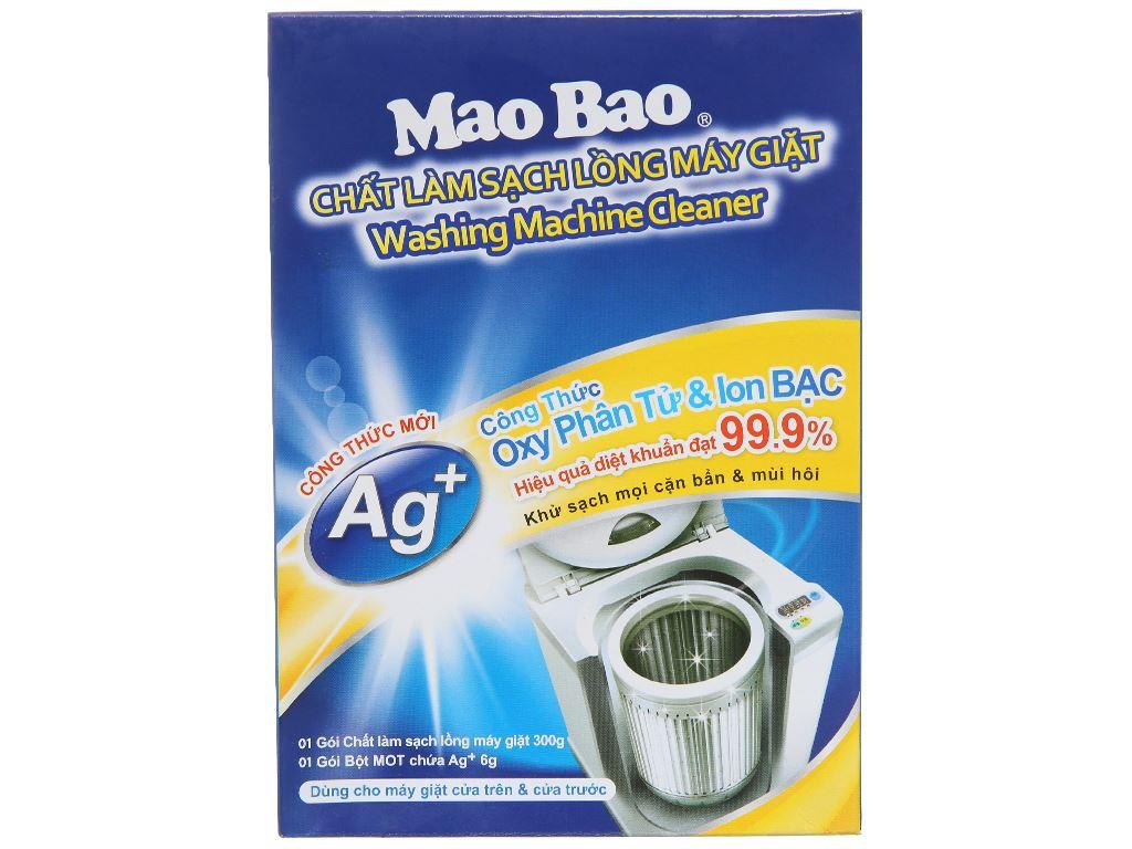 Bột vệ sinh lồng máy giặt Mao Bao Oxy phân tử & Ag+ 300g 2