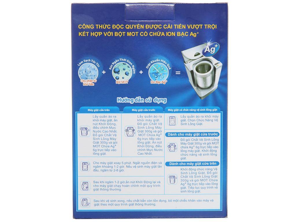 Bột vệ sinh lồng máy giặt Mao Bao Oxy phân tử & Ag+ 300g 3