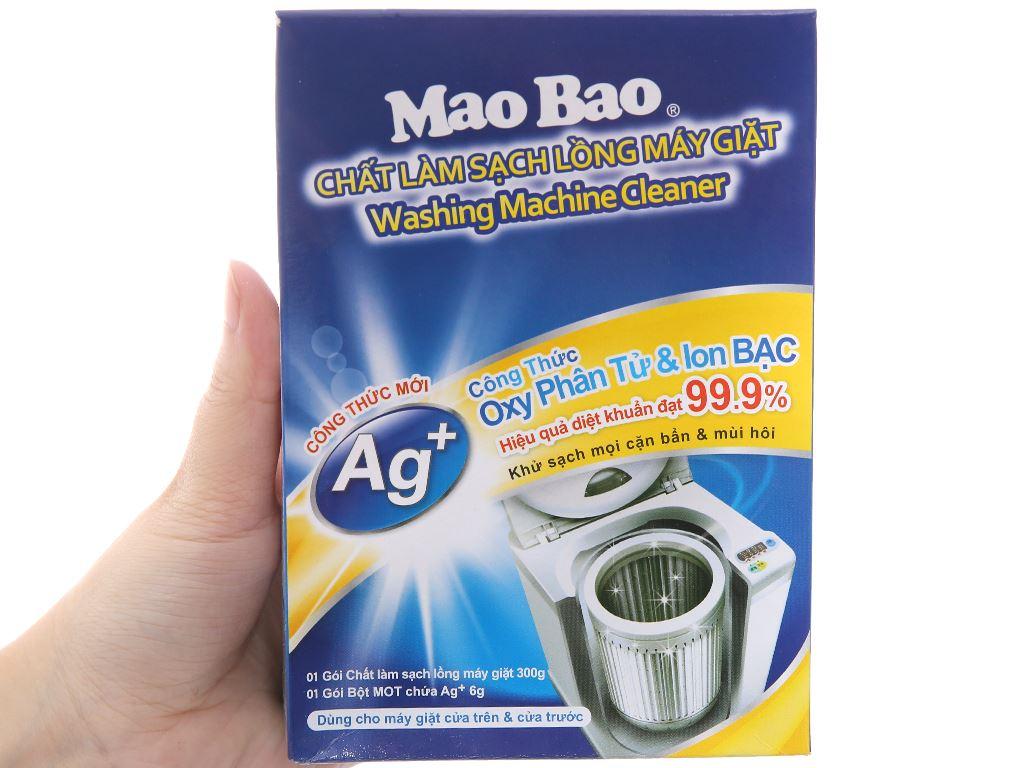 Bột vệ sinh lồng máy giặt Mao Bao Oxy phân tử & Ag+ 300g 5