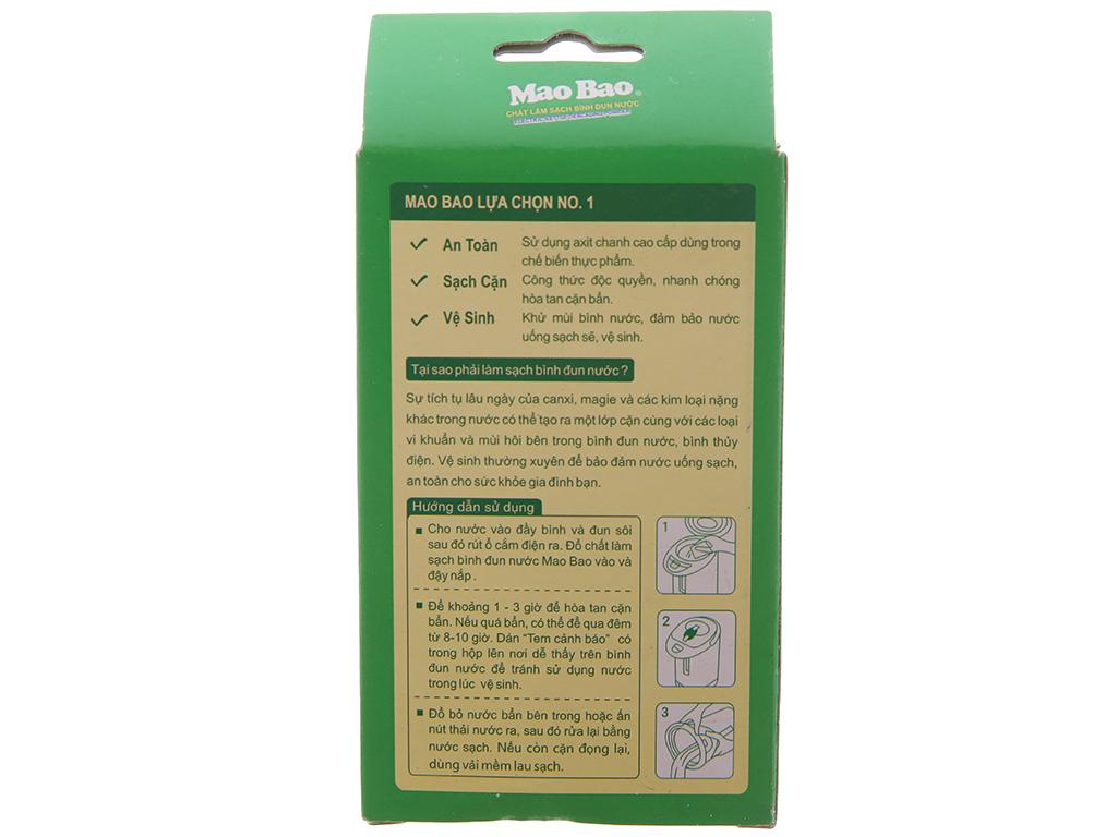 Chất làm sạch bình đun nước MaoBao khử mùi & sạch cặn 25g x 2 gói 3