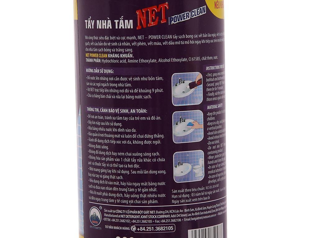 Nước tẩy nhà tắm NET Power Clean 900g 4