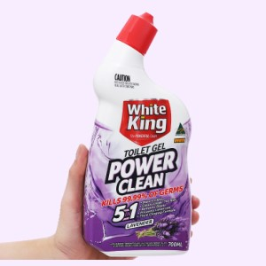 Gel vệ sinh tolet White King hương hoa oải hương 700ml